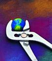 电子时代0022,电子时代,商业,夹着一颗地球