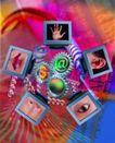 电子时代0034,电子时代,商业,耳朵 手掌 眼睛
