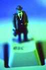蓝色商业0046,蓝色商业,商业,一个按键 站在按键上的人偶