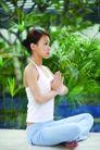 瑜伽美女0066,瑜伽美女,美容,合十