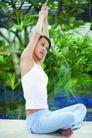 瑜伽美女0067,瑜伽美女,美容,盘腿坐姿