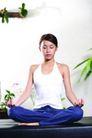 瑜伽美女0085,瑜伽美女,美容,盘腿