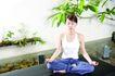 瑜伽美女0087,瑜伽美女,美容,绿叶