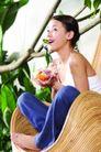 瑜伽美女0093,瑜伽美女,美容,笑容 树枝 时尚丽人