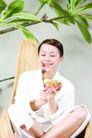 瑜伽美女0097,瑜伽美女,美容,果蔬美女 叉子 代餐果蔬