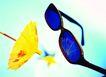 生活用品0034,生活用品,静物,镜框 小伞 物件