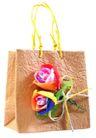 礼品包装0045,礼品包装,静物,纸袋 花朵装饰