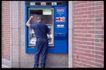 货币大全0098,货币大全,金融,银行取款机 背影 砖墙
