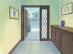 室内背景0172,室内背景,建筑,走道 木柜 壁画