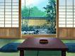 室内背景0178,室内背景,建筑,日式风情 庭院