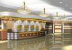宾馆酒店模型0003,宾馆酒店模型,装饰,接待台 顶灯