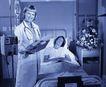 医务特写0017,医务特写,医学医药,病房 躺着的病人