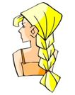 处女座0167,处女座,综合,金色辫子