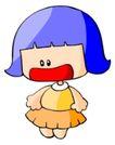 处女座0194,处女座,综合,蓝色的头发