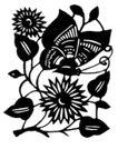 虫鱼0161,虫鱼,综合,花和蝴蝶