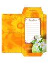信纸包装0046,信纸包装,生活,橘色信封