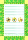 信纸包装0061,信纸包装,生活,绿色边