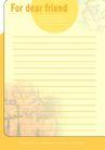 信纸包装0071,信纸包装,生活,橘色信纸