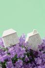 情人礼品0047,情人礼品,生活,紫色小花 房屋模型
