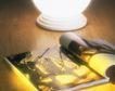 日常用品0116,日常用品,生活,眼镜 翻开的书