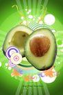 水果0009,水果,行业设计精选,合成图 绿色 鲜花