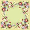 花卉边框0042,花卉边框,自然风景,富贵花朵