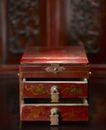 传统生活器具0034,传统生活器具,中华图片,红色 花纹 抽屉