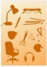 极品图标素材0035,极品图标素材,综合,眼镜 台灯 箭刀
