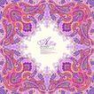 纹理边框0007,纹理边框,综合,紫色调花纹 绚丽构图