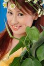 彩色季节0035,彩色季节,底纹背景,盆栽 绿叶 笑脸