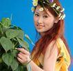 彩色季节0036,彩色季节,底纹背景,回头 染发 青叶