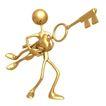 喻意金人0157,喻意金人,商业,钥匙