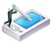 网络商务0038,网络商务,商业,手机 手写屏 通讯工具