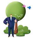 网络商务0039,网络商务,商业,鸟儿 绿树 野外