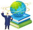 网络商务0050,网络商务,商业,地球仪 两本书