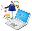 网络商务0057,网络商务,商业,小电脑 放大镜