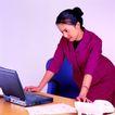 办公女性0052,办公女性,人物,红色套装