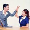 办公女性0058,办公女性,人物,击掌 相互鼓励