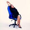 办公女性0068,办公女性,人物,伸懒腰 转椅