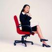 办公女性0069,办公女性,人物,红色椅子