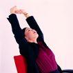 办公女性0072,办公女性,人物,向后仰 伸直手臂