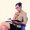 办公女性0074,办公女性,人物,眼镜女性