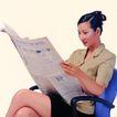 办公女性0075,办公女性,人物,看报