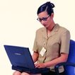 办公女性0076,办公女性,人物,职员 短袖
