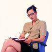 办公女性0086,办公女性,人物,写日志 做记录