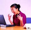 办公女性0091,办公女性,人物,惊讶表情 笔记本 办公桌