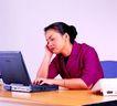 办公女性0095,办公女性,人物,思考 上网 工作时间
