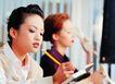 办公女性室外篇0068,办公女性室外篇,人物,做笔记 拿着笔
