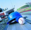 各种球类0062,各种球类,运动,蓝色头盔 一个棒球