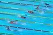 角逐金牌0058,角逐金牌,运动,泳道 激烈的游泳比赛